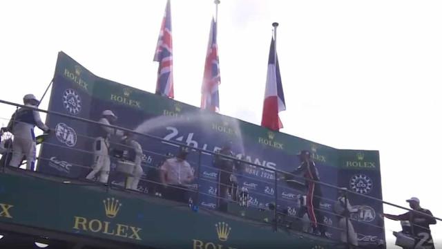 Histórico: O momento em que o pódio de Le Mans teve dois portugueses