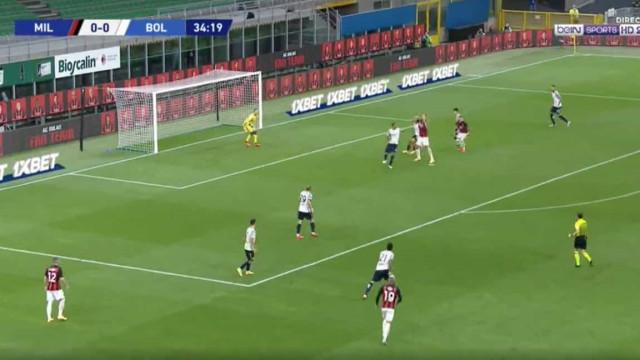 Ibrahimovic foi ao '5.º andar' marcar o primeiro golo da época na Serie A
