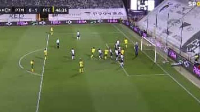Primeiro golo do Portimonense na I Liga foi... na própria baliza
