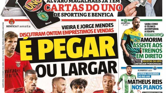 Por cá: Leão 'risca' Academia, Benfica no 'mercado' e a dúvida Telles