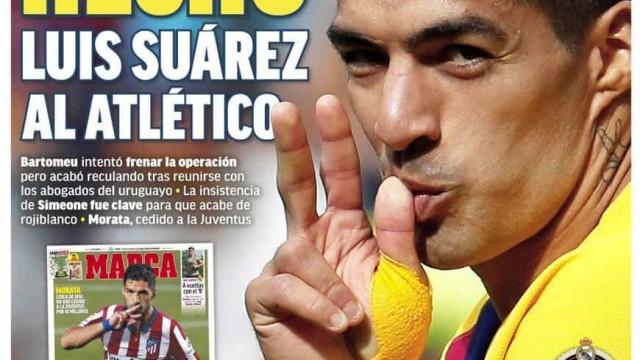 Lá fora: Suárez 'hecho', Morata... também e o 'caos' Covid em Inglaterra