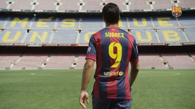O emotivo vídeo do Barcelona para se despedir de Suárez