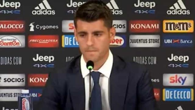 Morata foi apresentado na Juventus e falou da relação com CR7