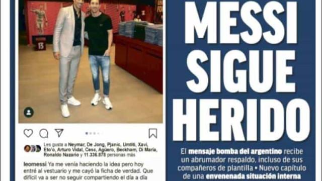 Lá fora: Messi magoado e a crise de lesões no Manchester City