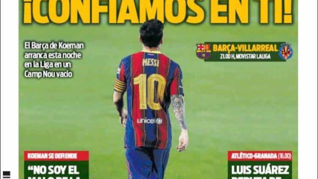 Lá fora: Bruno Fernandes 'safa' United e Messi regressa à ação