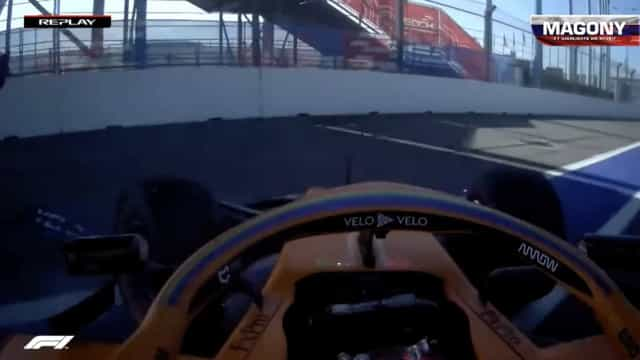 Sainz e Stroll 'espetam-se' logo na primeira volta do GP da Rússia
