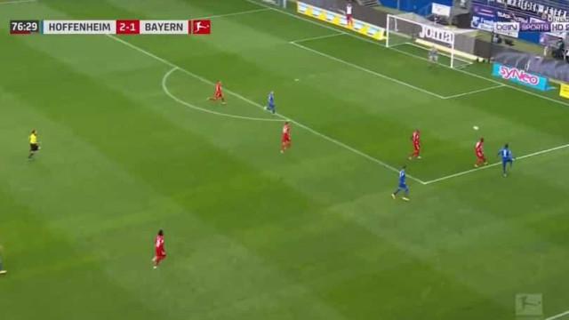 Hoffenheim humilha Bayern com golo em cinco toques desde o guarda-redes