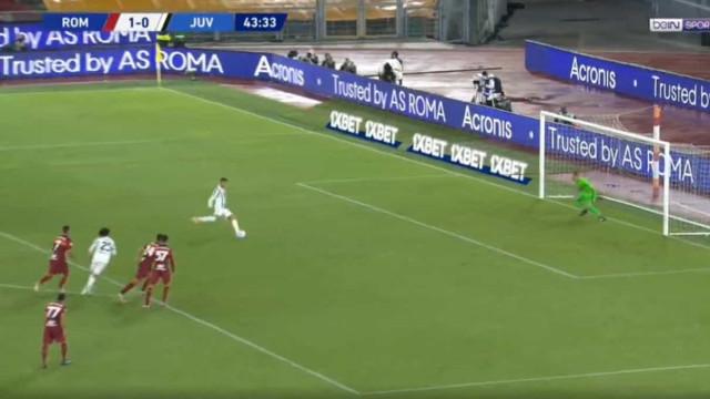 Ronaldo de pé quente. Português marcou de penálti no duelo com a AS Roma