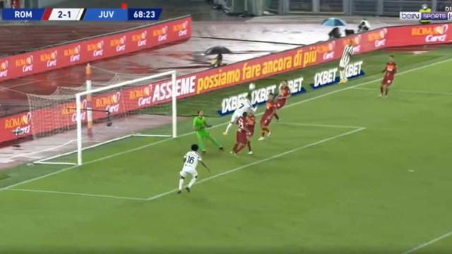 Ronaldo 'agigantou-se' e voltou a igualar dérbi com a AS Roma