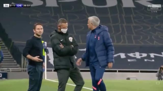 Clima aquece no dérbi com 'bate boca' entre Mourinho e Lampard