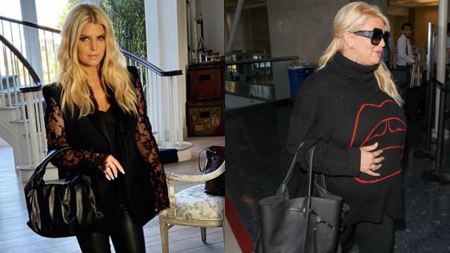 Jessica Simpson ironiza com o aumento de peso durante a última gravidez