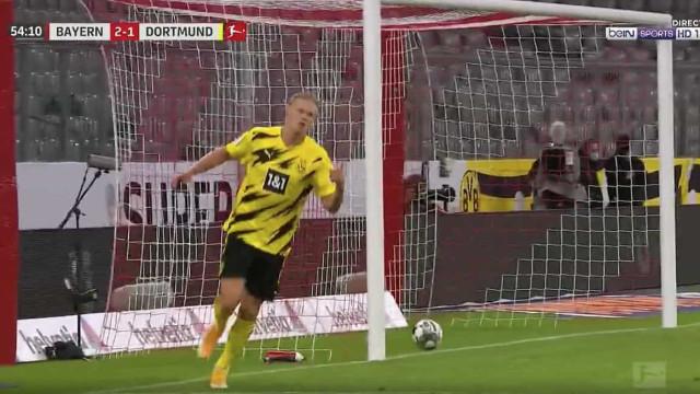 Inevitável Haaland relançou Borussia Dortmund contra o Bayern
