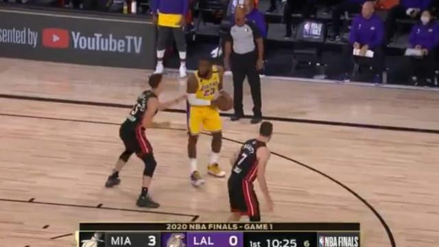Lakers 'arrasaram' Miami Heat e LeBron James quase fez um triplo-duplo