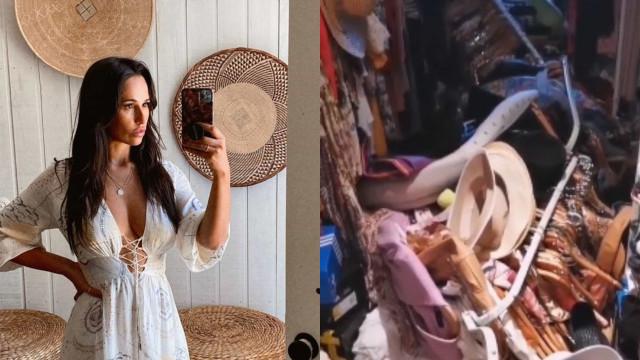 """Metade do closet de Rita Pereira caiu: """"Quem manda comprar barato?"""""""