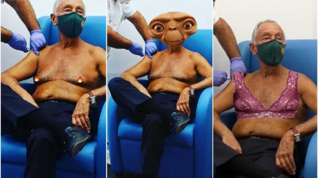 Marcelo leva vacina sem camisa e vira meme. Estes são os mais hilariantes