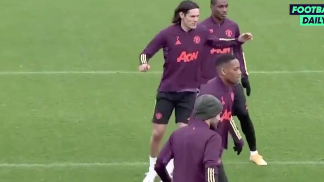 Cavani já treina com Bruno Fernandes e companhia no Manchester United