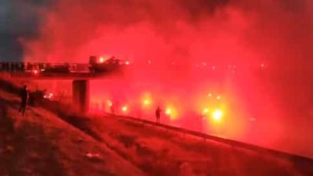 Arrepiante: Rennes estreia-se na Champions e adeptos fazem isto