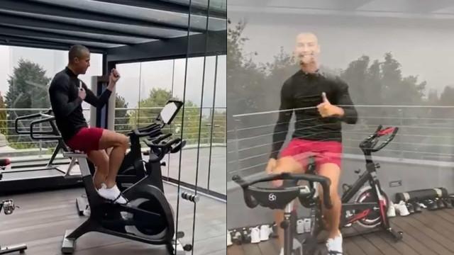 Vídeo. Cristiano Ronaldo faz exercício (e dança) ao som dos Calema