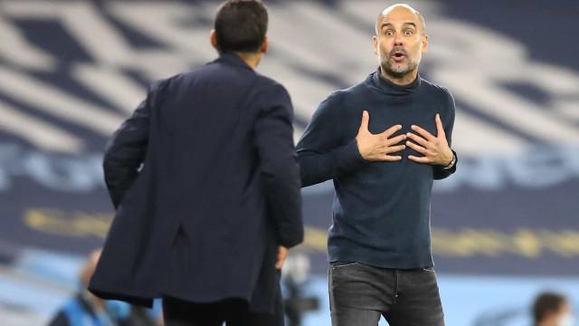 """""""Guardiola conseguiu falar do nosso país, palavras não bonitas"""""""