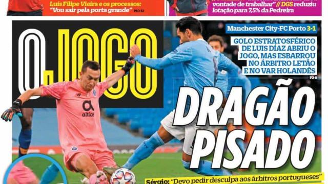 """Por cá: Dragão foi """"pisado"""" pelo árbitro; Benfica e Braga vão a jogo"""
