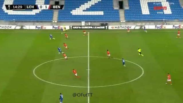 Contra-ataque fulminante tira vantagem do Benfica em Poznan