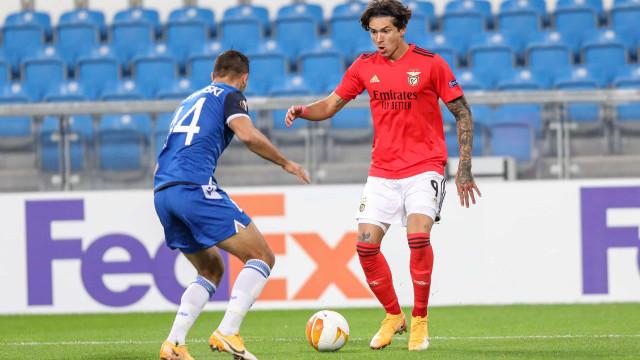 Darwin Núñez no melhor onze da primeira jornada da Liga Europa