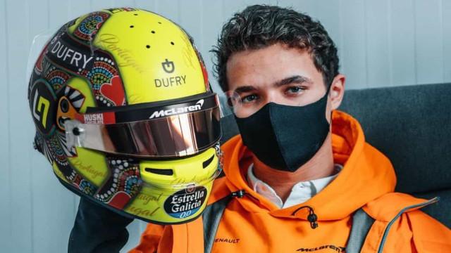 F1: Lando Norris usa capacete com Galo de Barcelos no GP de Portugal