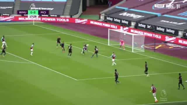Antonio supera pressão de Rúben Dias e 'trama' Manchester City com golaço