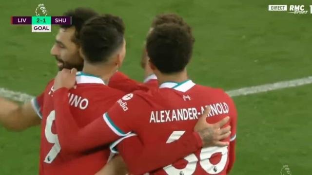Cabecinha pensadora: Letra Jota tem carimbo de golo para o Liverpool
