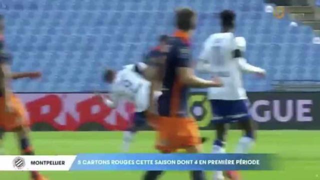 Jogador do Montpellier perde cabeça e atinge adversário com pontapé