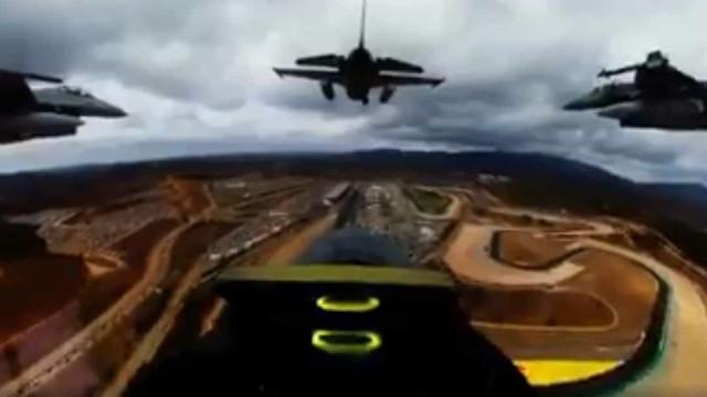 F-16 da Força Aérea sobrevoam Grande Prémio de Portugal. Eis o vídeo