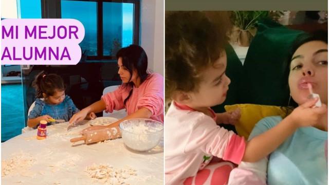Com Ronaldo em isolamento, foi assim o domingo de Georgina com os filhos