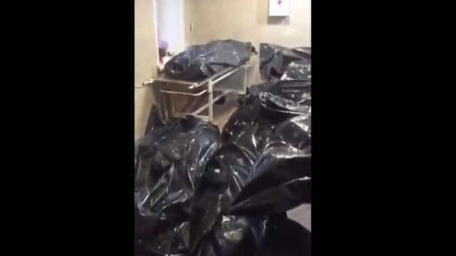 Vídeo mostra vítimas da Covid-19 empilhadas em morgue na Rússia