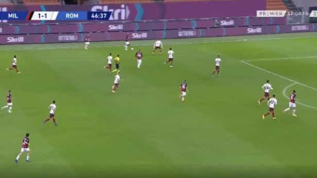 Rafael Leão está 'endiabrado' e assiste para mais um golo do AC Milan