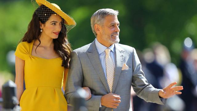 George e Amal Clooney não conheciam Harry e Meghan até ao casamento