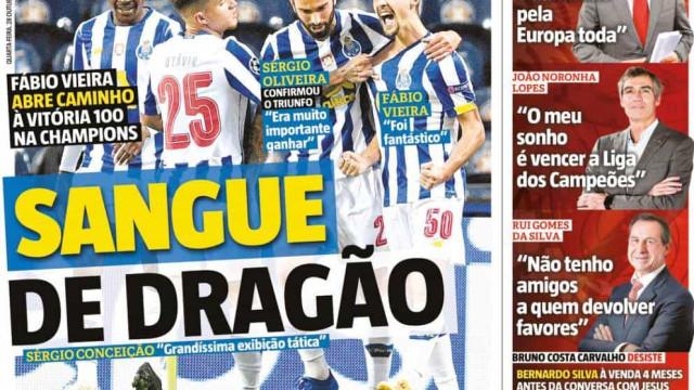 Por cá: Dragão vence na Europa, Benfica decide-se e o 'recado' de Amorim