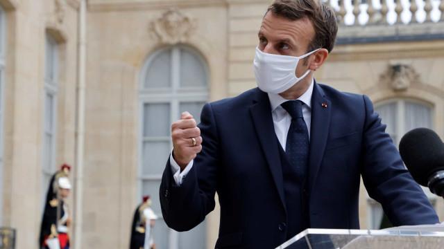 Macron anuncia novo confinamento em França até 1 de dezembro