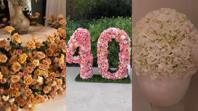 Está preparado? Veja o 'exército' de flores que Kim Kardashian recebeu