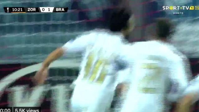 Gaitán estreou-se pelo Sp. Braga e marcou este golaço incrível