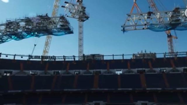 Real Madrid 'levanta a cortina' e mostra como está o Bernabéu