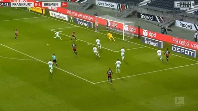 André Silva marca e empata partida para o Eintracht Frankfurt