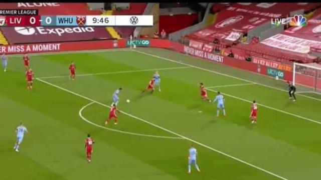 Hammers entraram a 'abrir' e aos 10 minutos já venciam o Liverpool