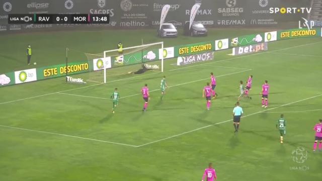 Piazón inaugurou o marcador no Rio Ave-Moreirense com este belo golo