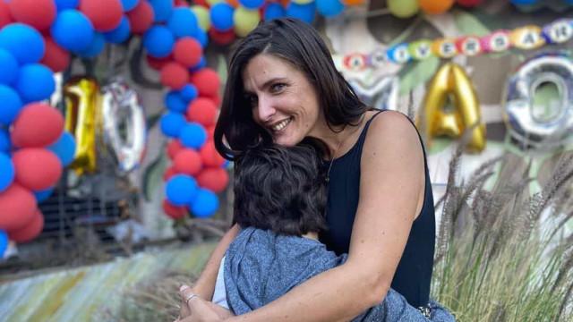 Inês Castel-Branco publica foto inédita do rosto do filho
