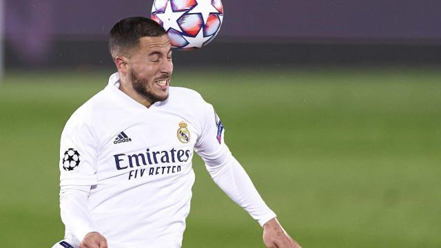 """Hazard quebra o silêncio e pede """"desculpa"""" aos adeptos do Real Madrid"""