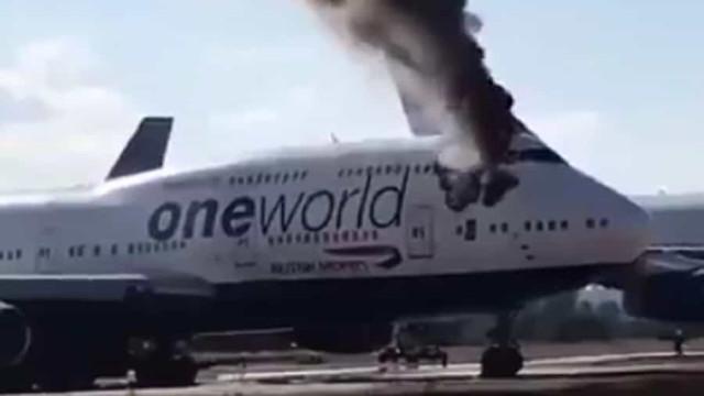 Avião da British Airways armazenado em Valência incendiou-se