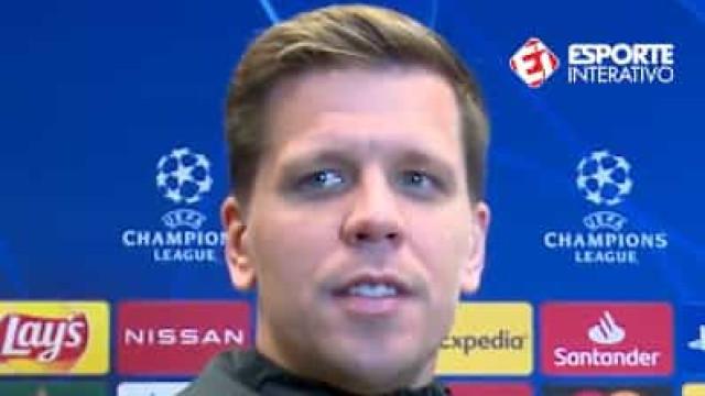 """Szczesny espanta com português exímio até a dizer... """"Cristiano Ronaldo"""""""