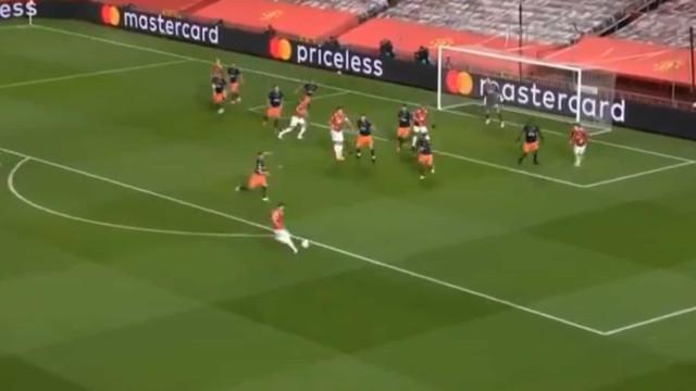 'Míssil' de Bruno Fernandes é sério candidato a golo do ano na Champions