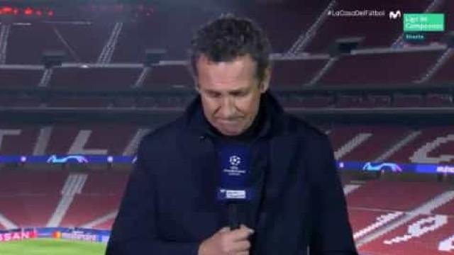 Valdano recorda Maradona e desfaz-se em lágrimas em direto