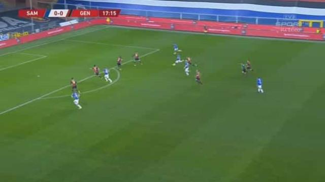 O 'míssil teleguiado' que abriu o marcador do Sampdoria-Genoa
